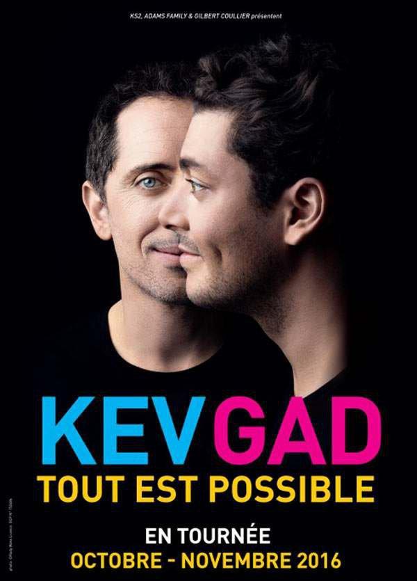 """Place pour le spectacle """"Tout est Possible"""" de Kev Adams & Gad Elmaleh"""