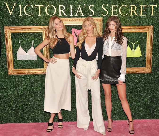 Martha Hunt, Elsa Hosk et Taylor Hill à la soirée de présentation Victoria's Secret