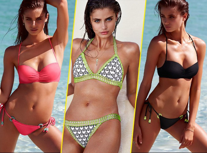 Photos : Taylor Hill, naïade sexy pour la dernière collection de maillots by Victoria's Secret !