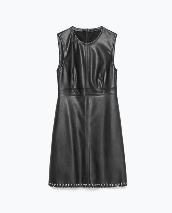 Robe aspect cuir, Zara, 49,9 5€