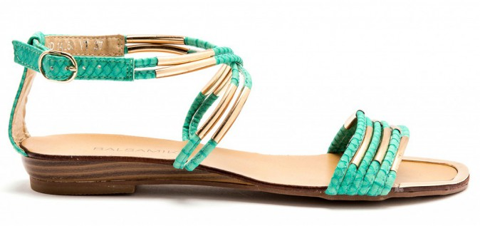Sandales vert aqua (39.99€ -> 34.99€)