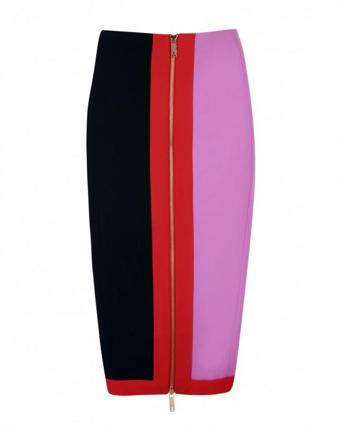 Jupe crayon zippée tricolore, Ted Baker 155 €