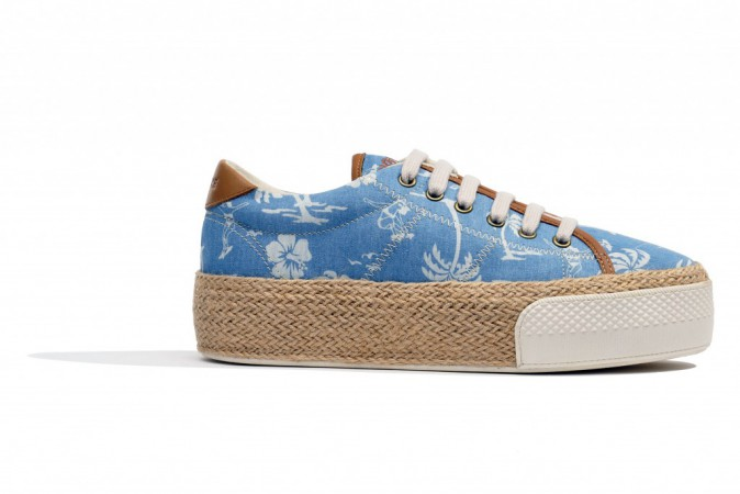 Sneakers compensées, Sunset, No Name 85€