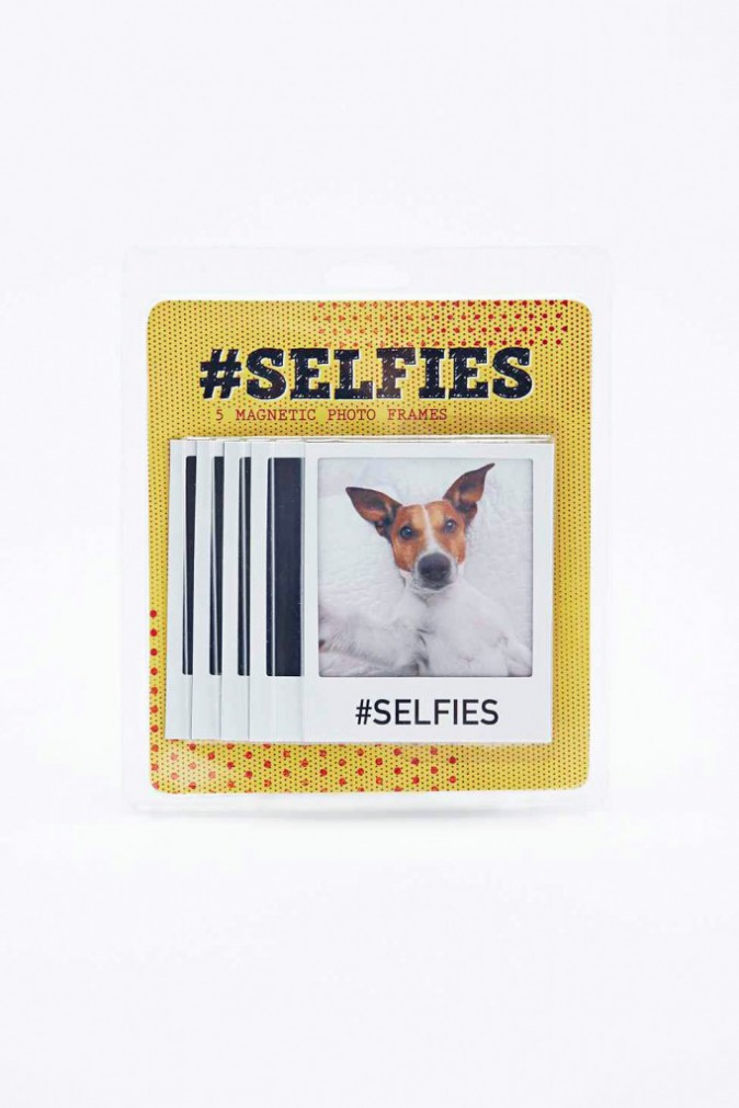 Cadres-photo aimantés #Selfies, Urban Outfitters 15 €