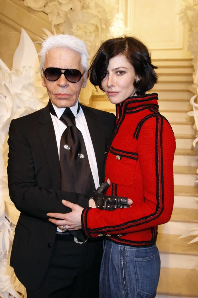 27/01/2009 : Anna Mouglalis et Karl Lagarfeld à Paris