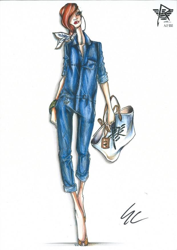 Les croquis de Rihanna pour Armani Jeans !