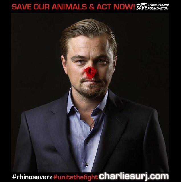 Leonardo DiCaprio pour Rhinosaverz