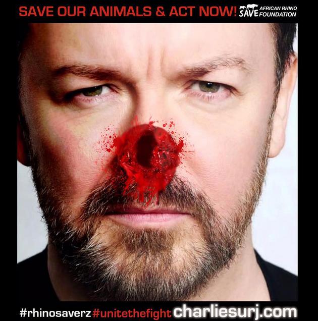 Ricky Gervais pour Rhinosaverz