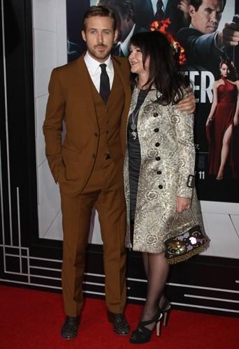 Ryan et Donna Gosling à la première de Gangster Squad.