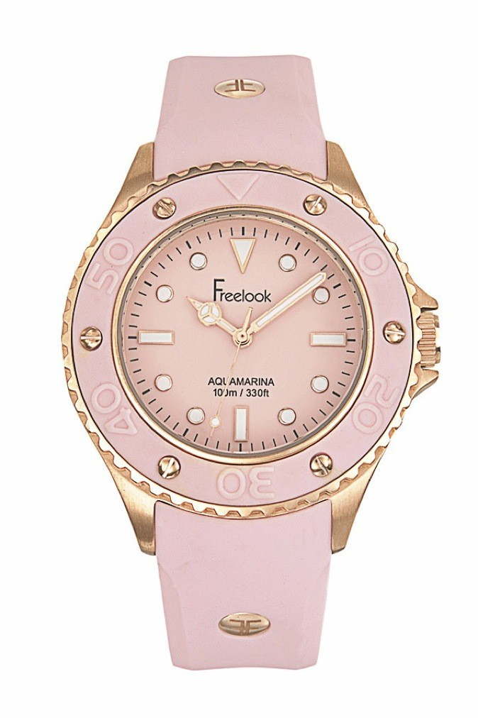 Montre Freelook rose. 179€
