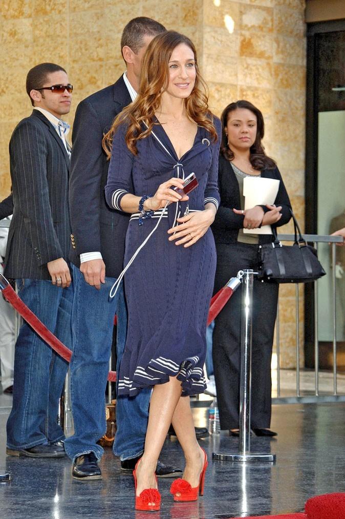 Sarah Jessica Parker en Janvier 2006 sur le Walk of Fame ...