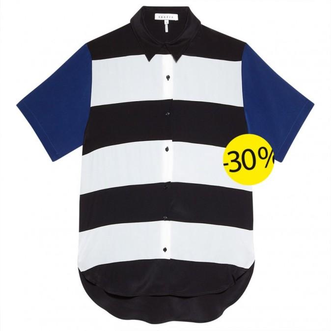 Chemise en soie, Sandro : 115,5 euros au lieu de 165 euros
