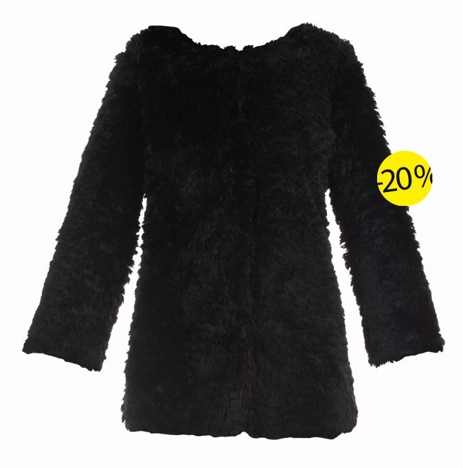 Manteau noir Monshowroom : 55 euros au lieu de 69 euros
