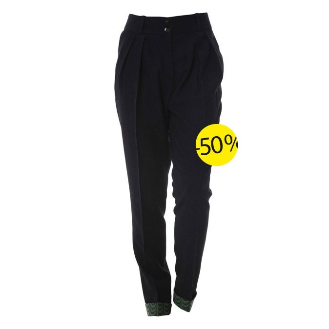 Pantalon en laine noir Antik Batik Chez Brandalley : 87,5 euros au lieu de 175 euros