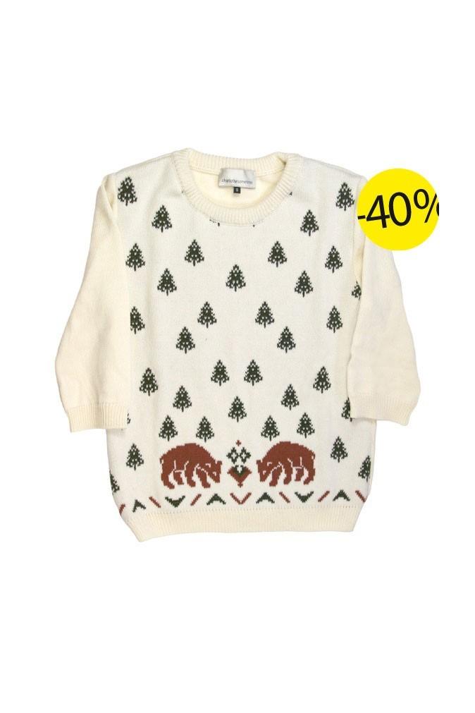 Pull en laine, Charlotte Sometime chez Yumestore :117 euros au lieu de 195 euros