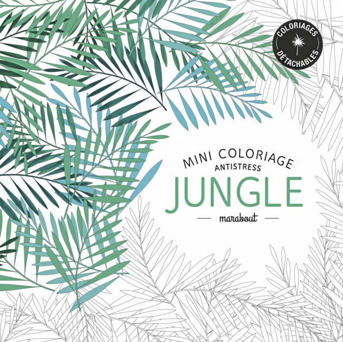 Mini coloriage antistress jungle, Éd. Marabout 6,90 €