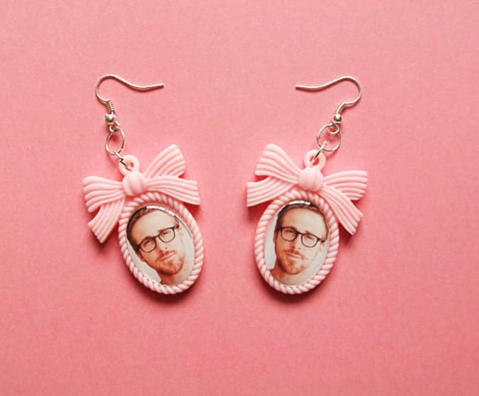 Boucles d'oreilles camée, Kushtea sur etsy.com 9€