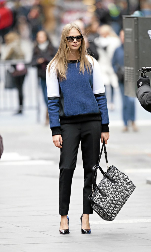Cara Delevingne : just perfect en DKNY !