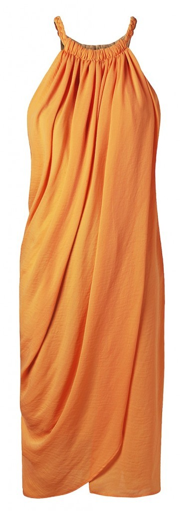 Robe longue corail, Mango 79 €