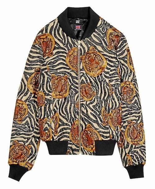 Teddy imprimé zébré et têtes de tigres en cuir et coton, Le Corner 655 €