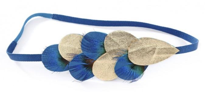 Headband paon, Olivia Clergue. 105 €.