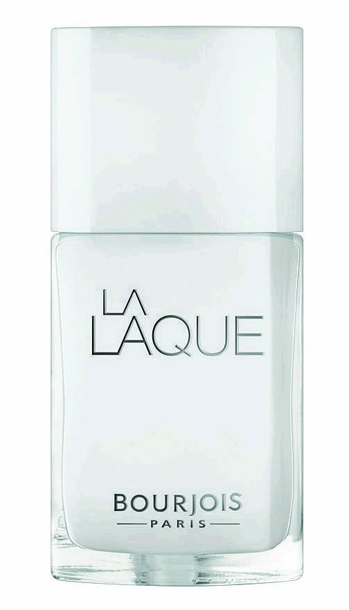 Le blanc : Vernis blanc La Laque Bourjois 10,99 €