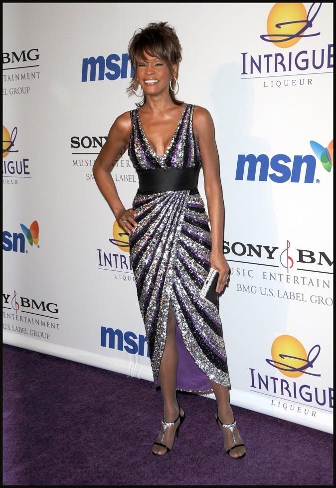 Février 2008 : Whitney Houston à Beverly Hills