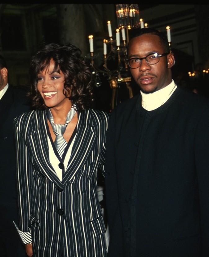 Février 1994 : Whitney Houston avec son ex-mari Bobby Brown à New York