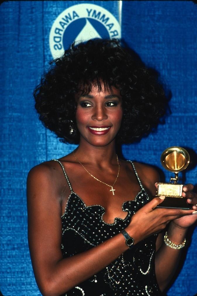 Mars 1988 : Whitney Houston aux Grammy Awards à New York