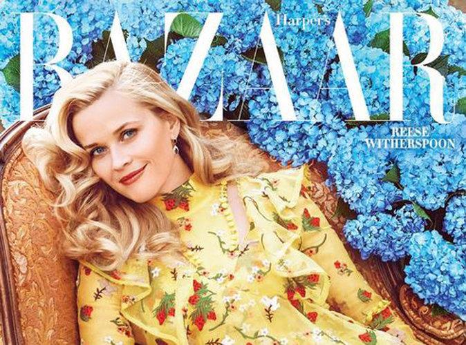 """Reese Witherspoon radieuse en une de Harper's Bazaar : """"C'est génial de vieillir"""" !"""