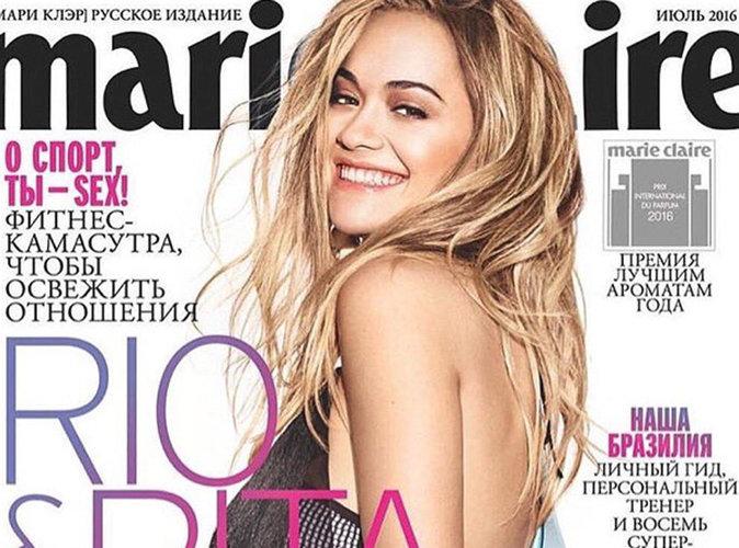 """Rita Ora : En attendant la suite de """"Fifty Shades"""", la star est lumineuse en couverture de Marie Claire Russie !"""
