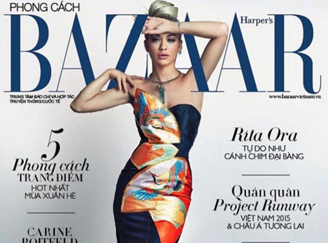 Rita Ora : magistrale et colorée en couverture du Harper's Bazaar Vietnam