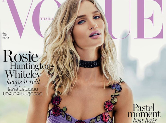 Rosie Huntington-Whiteley : Angélique en robe lilas pour le Vogue Thaïlande !