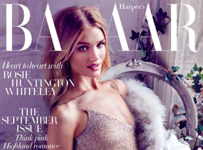 Rosie Huntington-Whiteley : scintillante en couverture du Harper's Bazaar UK !