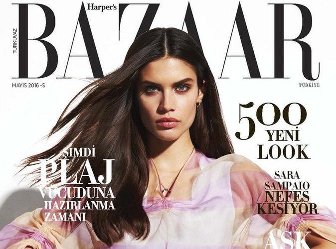 Sara Sampaio : divine en couverture du magazine Harper's Bazaar Turquie