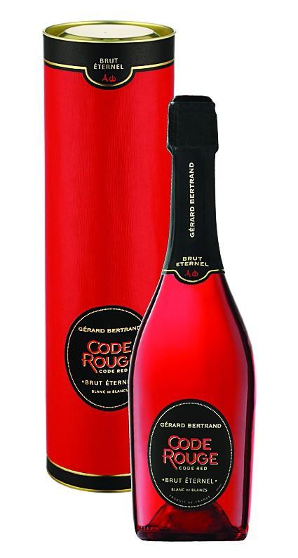 Champagne brut, Coffret et bouteille, Code rouge, Gérard Bertrand 19,90€