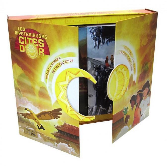 Coffret collector et numéroté, Les Mystérieuses Cités d'or, saison 2, TF1 vidéo 129€