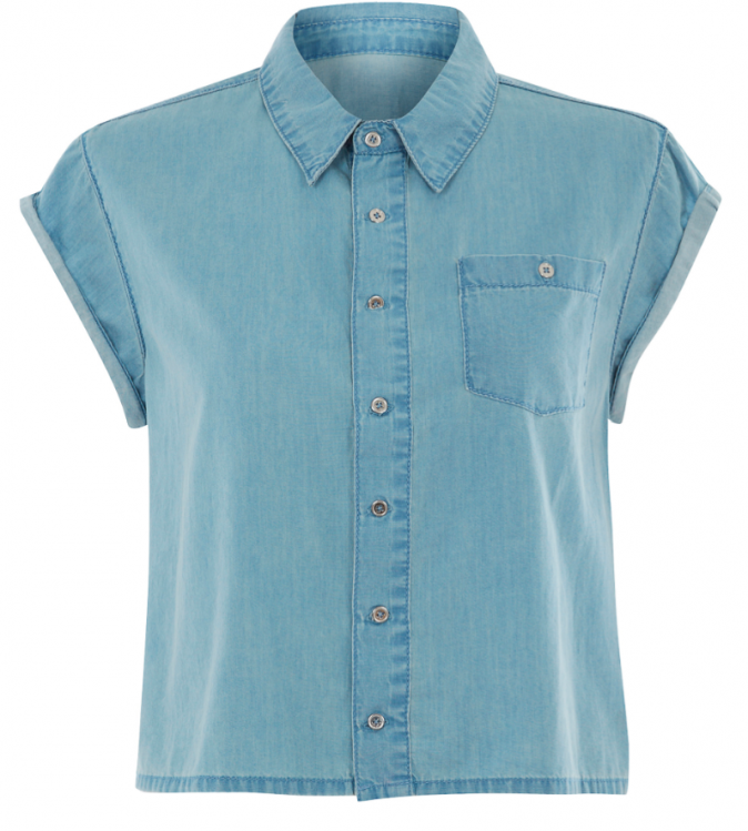 Chemise crop en denim, New Look, 22,99€