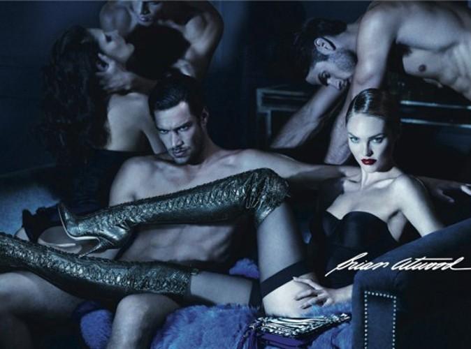 Vidéo mode : Candice Swanepoel entourée d'hommes nus pour Brian Atwood !