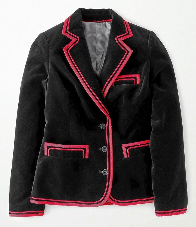 Blazer bicolore en velours, Boden 149€