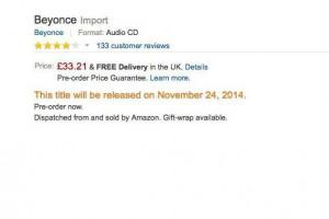 Amazon UK pre-commande Beyonce