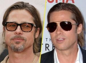 Brad Pitt avec/sans barbe !