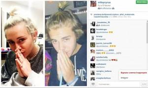 Miley Cyrus imite Justin Bieber