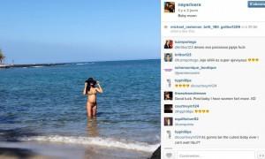 Naya Rivera enceinte bikini