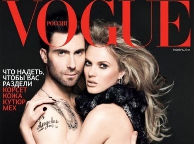 Adam Levine : trop photoshopé... il en perd son torse !