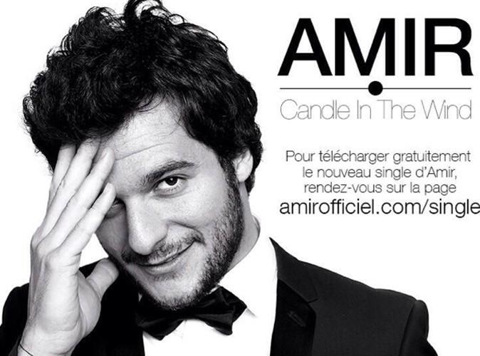 """Amir (The Voice 3) : il dévoile son single... une reprise de """"Candle In The Wind"""" !"""