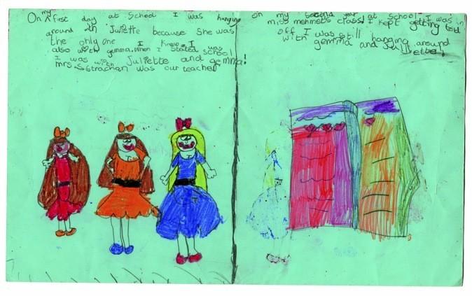Les premiers dessins réalisés par Amy à l'école. La chanteuse avait déjà un sens artistique développé.