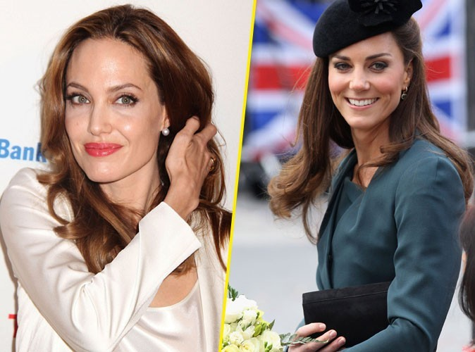Angelina Jolie : fan de Kate Middleton…au point de l'incarner à l'écran ?