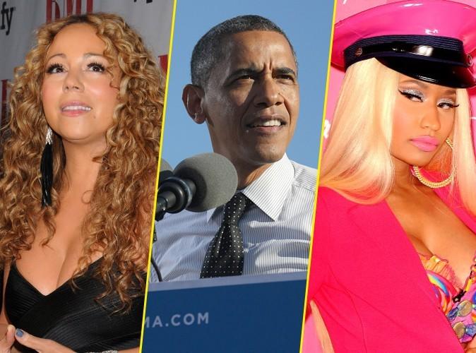 Barack Obama : entre Mariah Carey et Nicki Minaj, son cœur balance !