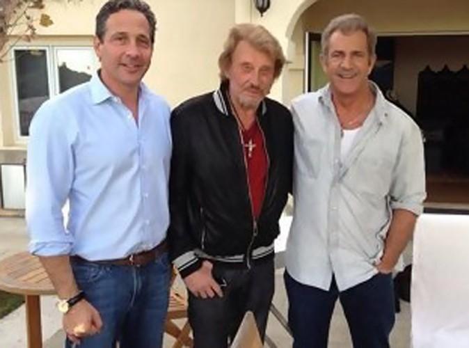 Jean-Philippe Smet alias Johnny Hallyday : son nouveau pote... c'est Mel Gibson !